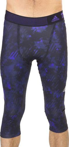 Adidas Legginsy męskie Tech-Fit Cool 3/4 Compression granatowo-fioletowe r. XL (S20808)