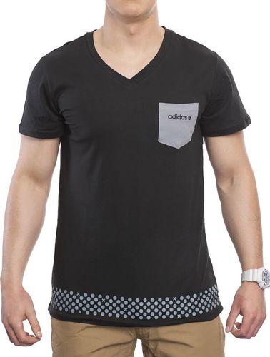 Adidas Koszulka męska G V Pocket T czarna r. L (Z64667)