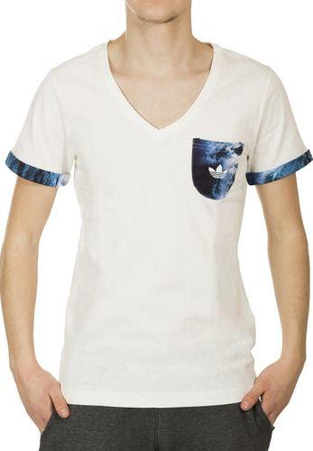 Adidas Koszulka męska ZX8K HR V-TEE biała r. XS (B82322)