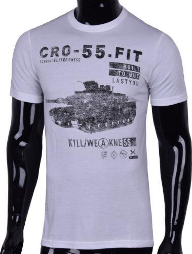 Reebok Koszulka męska CrossFit Tee BM488 biało-czarna r. M (B83975)