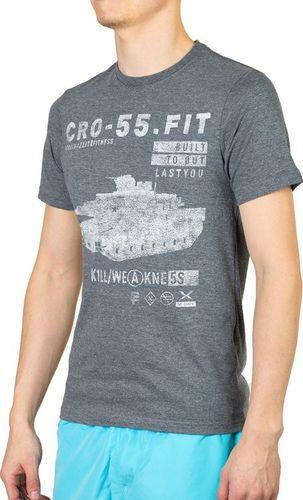 Reebok Koszulka męska Crossfit Graphic Tee szara r. XL (B87225)