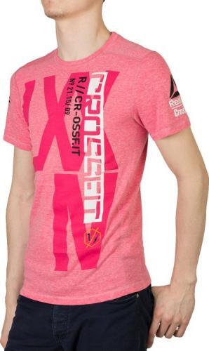 Reebok Koszulka męska Crossfit Rcf Triblend różowa r. XL (B86738)