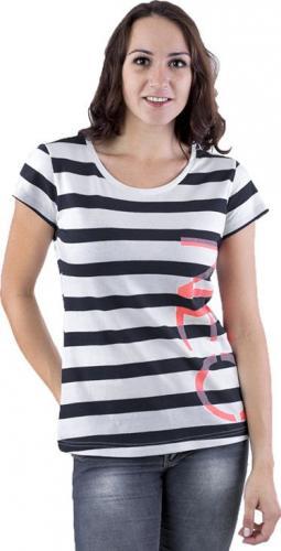 Adidas Koszulka damska Neo Stripe Tee biało-czarna r. XS (Z97164)