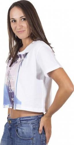 Adidas T-Shirt damski Neo Crop Tee B89609 biały r. L