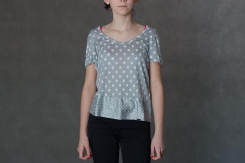 Adidas Koszulka damska Pb Dots Tee biało-szara r. 36 (F78182)