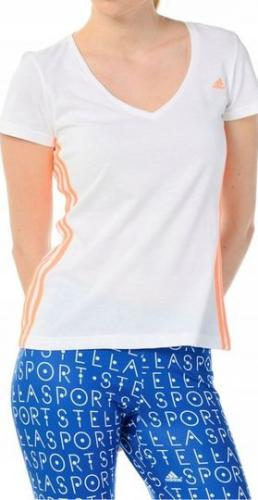 Adidas Koszulka damska Essencial Mid 3S Tee biała r. S (S88577)