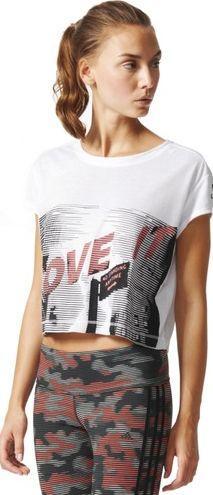 Adidas Koszulka damska Dance Tee biało-szara r. L (AB5327)