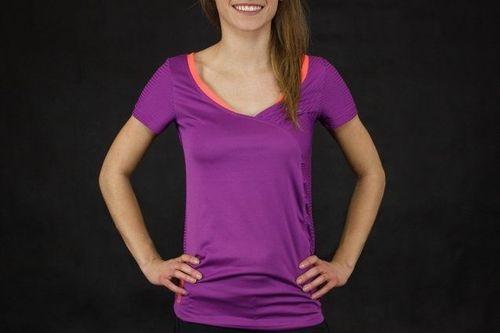 Reebok Koszulka damska Nova Fitness fioletowa r. S (W48146)