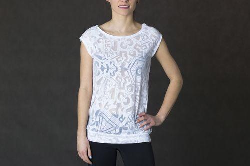 Reebok Koszulka damska Os Burnout Tee biała r. XL (B88067)