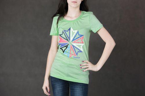 Reebok Koszulka damska Starc Tee green r. S (Z82787)