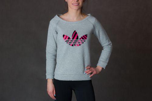 Adidas Bluza dziecięca J Z Crew Fleece szara r. 140