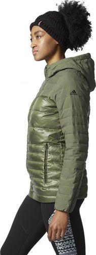 Adidas Kurtka damska Nd Cozy Down Jacket zielona r. 2XS (AP8688)