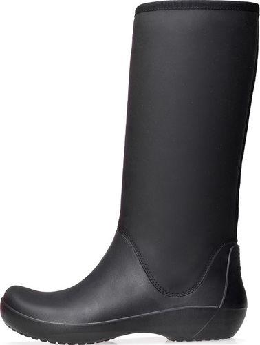 Crocs Kalosze Crocs Rainfloe Tall Boot Black 203416-001 34-35
