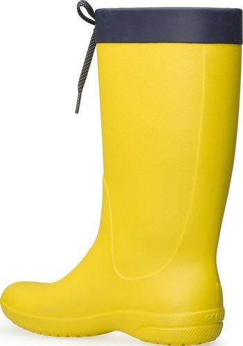 Crocs Kalosze Crocs Freesail Rain Boot Lemon 203541-7C1 37-38