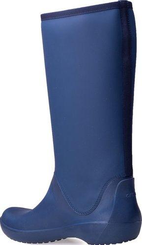 Crocs Kalosze Crocs Rainfloe Tall Boot Navy 203416-410 34-35