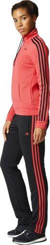Adidas Komplet dresowy damski Ess 3S Suit czarno-czerwony r. XXS (AY1820)
