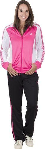 Adidas Komplet dresowy New Young Knit czarno-różowy r. M (S20954)