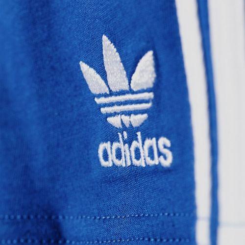 Adidas Komplet dziecięcy ND I Tee Short Set biało-niebieski r. 74 (AO0055)