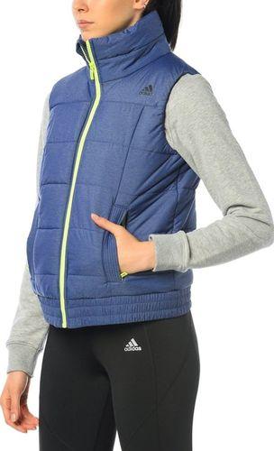 Adidas Kamizelka damska ND ESS Padded Vest niebieska r. XS (AA8537)