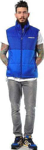 Adidas Kamizelka męska AC Padded Vest niebieska r. XS (G86357)