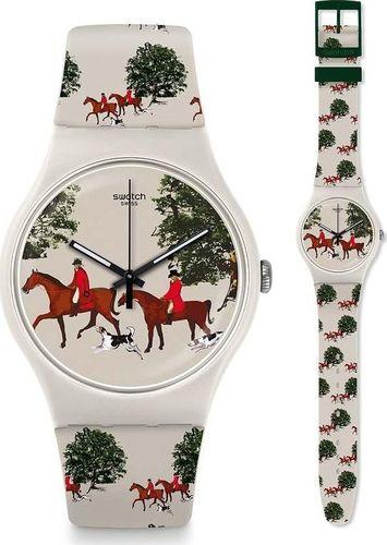 Zegarek SWATCH Zegarek damski Red Jacket biały (SUOT103)