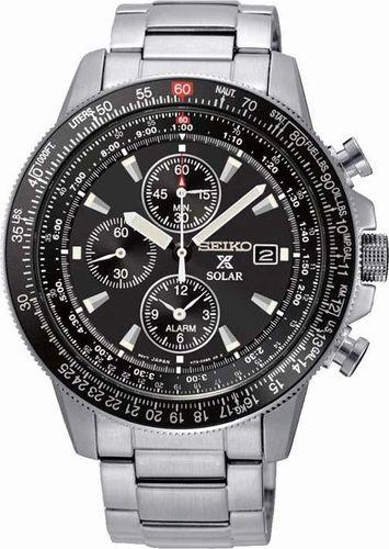 Zegarek Seiko Zegarek męski SSC009P1 srebrny