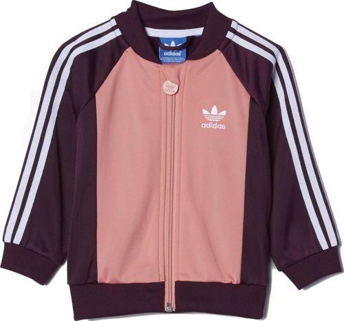 Adidas Komplet dresowy dziecięcy I Superstar różowo-fioletowy r. 80 (AB1837)