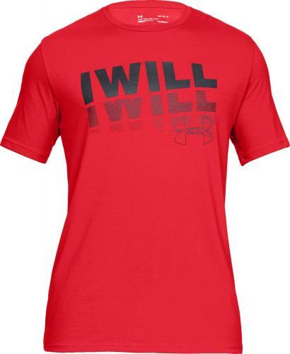 Under Armour Koszulka męska I Will 2.0 Short Sleeve Tee czerwona r. M (1329587-633)