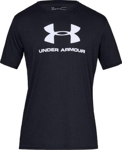 Under Armour Koszulka męska Sportstyle Logo Tee czarna r. L (1329590-001)