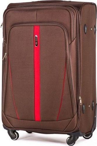 0e63daf5ef4f1 Solier Średnia walizka miękka M brązowy one size