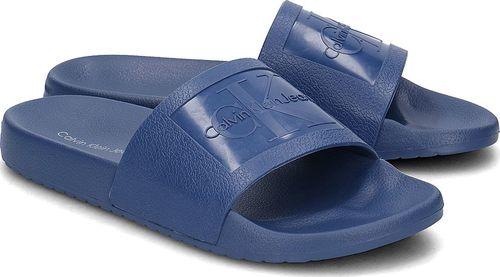 Calvin Klein Calvin Klein Jeans Vincenzo Jelly - Klapki Męskie - S0547 STEEL BLUE 45