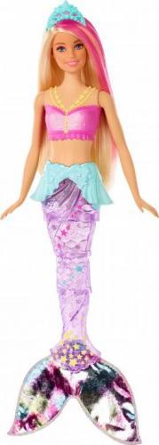Mattel Barbie Dreamtopia Magiczna Syrenka z falującym i świecącym ogonem (GFL82)
