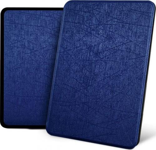Pokrowiec Alogy Etui Leather Smart Case do Kindle Paperwhite 4 granatowe z połyskiem