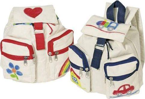 Goki Pomoce Montessori Plecak do pokolorowania dla dzieci do szkoły uniw