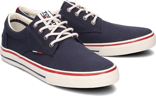 Tommy Hilfiger Tommy Hilfiger Jeans Textile Sneaker - Trampki Męskie - EM0EM00001 006 42