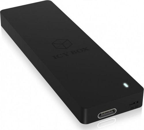 Etui RaidSonic IcyBox Obudowa Zewnętrzna na dysk M.2 SATA SSD ochrona przed zapisem, USB Type-C