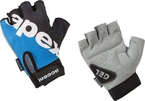 Accent Rękawiczki APEX czarno-niebieskie XS