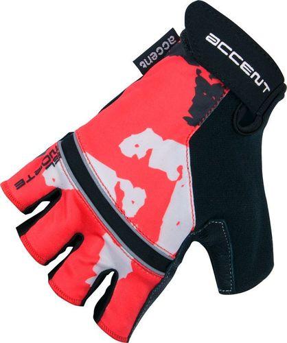 Accent Rękawiczki EL NORTE czerwono-czarne XS