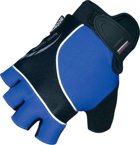 Accent Rękawiczki kolarskie Bike-Rider niebiesko - czarne M