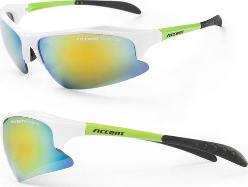 Accent Okulary Alliance biało-zielone, dwie pary soczewek uniwersalny