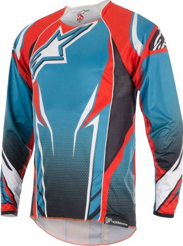 Alpinestars Koszulka męska A-line 2  Sapphire Blue-Spicy Orange r. XL