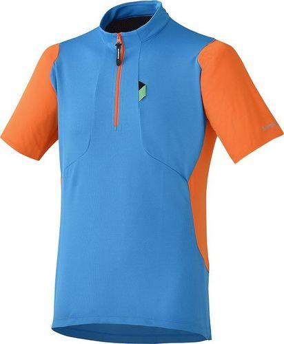 Shimano Koszulka męska Touring niebiesko-pomarańczowa r. XL