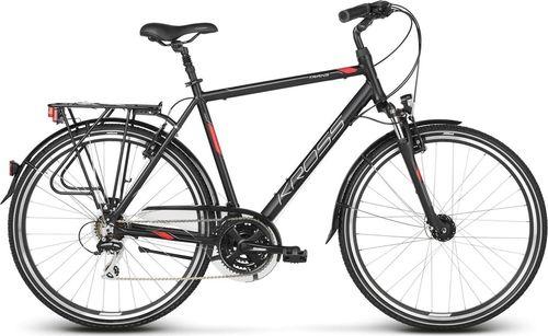 """Kross Rower turystyczny Trans 3.0 czarno-czerwono-srebrny mat 21"""""""
