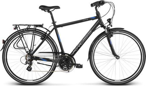 """Kross Rower turystyczny Trans 2.0 czarno-niebiesko-srebrny mat 21"""""""