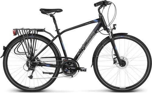 """Kross Rower turystyczny Trans 7.0 czarno-niebiesko-srebrny mat 21"""""""