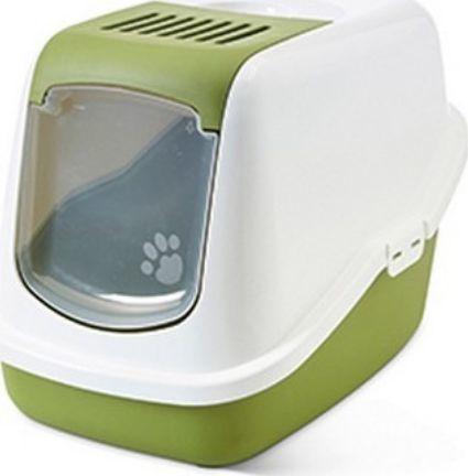 Savic Toaleta Savic Nestor - kryta kuweta dla kota z wygodnymi drzwiczkami zielona uniwersalny