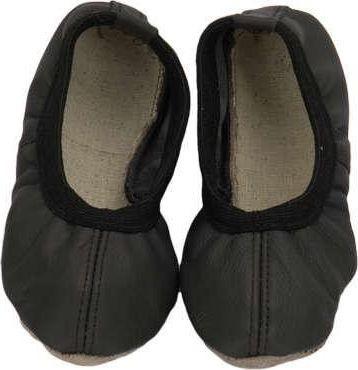 Baletki skórzane czarne 38