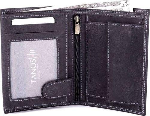 Solier Skórzany portfel męski SOLIER SW22 czarny