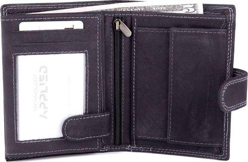 Solier Skórzany portfel męski SOLIER SW23 czarny