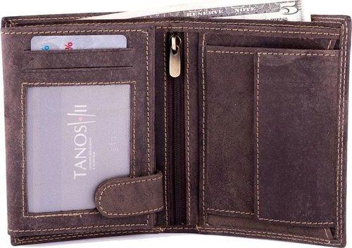 Solier Skórzany portfel męski SOLIER SW22 brązowy